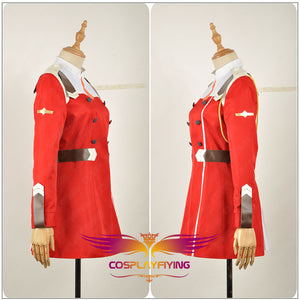 Darling in the FranXX CODE Killer Code: 002 Red Dress Uniform Outfit Cosplay Costume Adult Women Clothing Dress