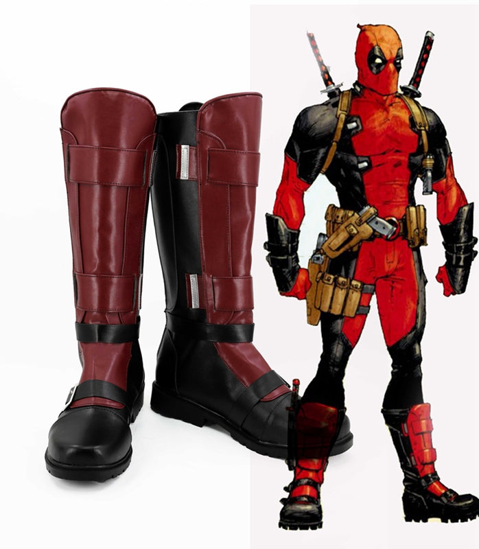 Deadpool Wade Winston Wilson Cosplay Shoes Boots Custom Made for Adult Men and Women