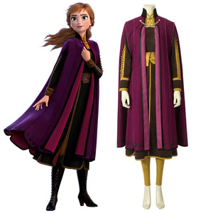 Disney Anime Movie Princess Anna Cosplay Costume Luxurious Version for Halloween Carnival