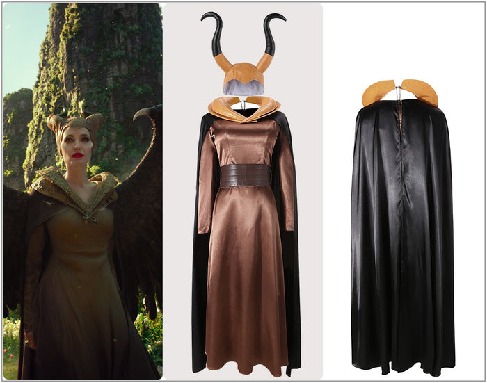 Disney Movie Maleficent 2: Mistress of Evil Maleficent Cosplay Costume Custom Made Adult Halloween Carnival Party