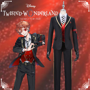 Disney Twisted-Wonderland Alice in Wonderland Ace Trappola Cosplay Costume Halloween Carnival