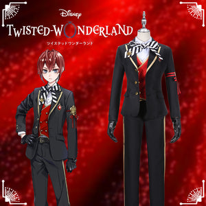 Disney Twisted-Wonderland Alice in Wonderland Riddle Rosehearts Cosplay Costume Halloween Carnival