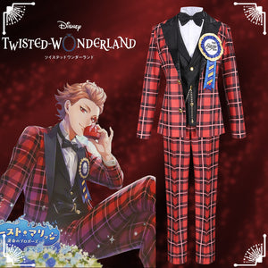 Disney Twisted-Wonderland Ghost Marriage Ace Red Uniform Cosplay Costume for Halloween Carnival