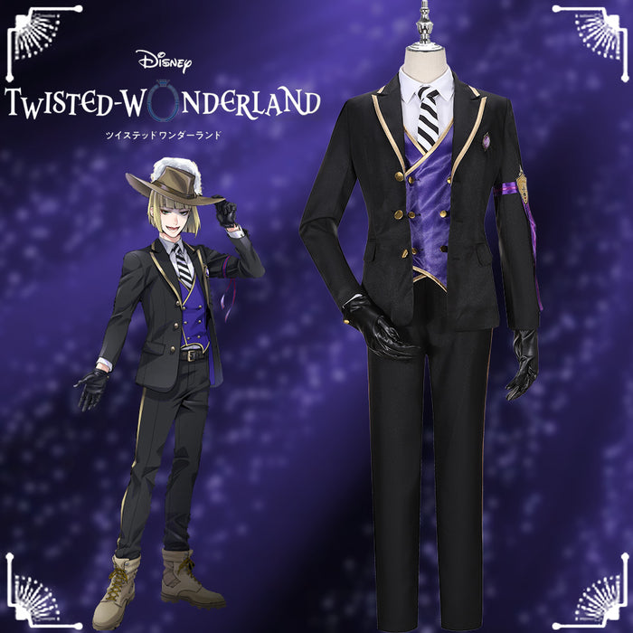 Disney Twisted-Wonderland Rook Hunt Snow Princess Black Uniform Cosplay Costume