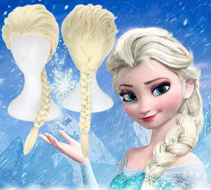 Disney Anime Movie Frozen 2 Elsa Cosplay Wig With Small Snowflake Headdress Cosplay for Adult Women Halloween Carnival