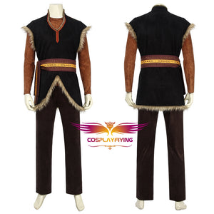 Disney Anime Movie Frozen 2 Kristoff Bjorgman Cosplay Costume Full Set for Halloween Carnival