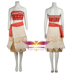 Disney Anime Movie Moana Princess Moana Fancy Dress Cosplay Costume Halloween Carnival