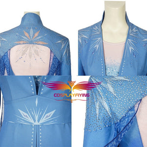 Disney Anime Movie Snow Queen Princess Elsa Cosplay Costume Luxurious Version for Halloween Carnival