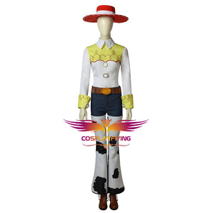 Disney Anime Movie Toy Story Jessie Cosplay Costume Full Set with Hat for Halloween Carnival