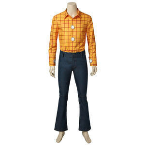 Disney Anime Movie Toy Story Woody Cowboy Cosplay Costume Full Set with Hat Scarf