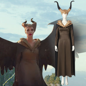 Disney Maleficent 2: Mistress of Evil Badass Godmother Cosplay Costume for Halloween Carnival