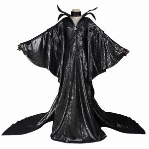Disney Maleficent Fairy Godmother Black Dress Robe Cosplay Costume for Halloween Carnival