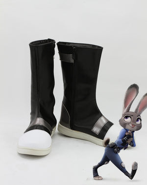 Disney Movie Zootopia/Zootropolis Judy Hopps Cosplay Shoes Boots Custom Made for Adult Men and Women