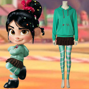 Disney Wreck-It Ralph 2 Princess Vanellope von Schweetz Cosplay Costume Luxurious Version
