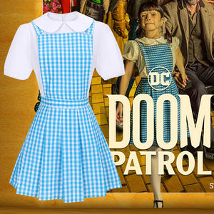 Doom Patrol Season 2 Dorothy Spinner Cosplay Costume Blue Dress for Carnival Halloween