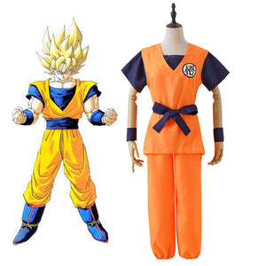 Dragon Ball Z Son Goku Kakarotto Cosplay Costume for KidsAdult Halloween Carnival