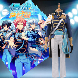 Ensemble Stars ES knights CD 4 Tsukinaga Leo Leader Male Men Uniform Cosplay Costume Outfit