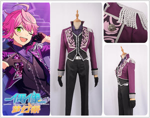 Ensemble Stars Music Strongest Tori Himemiya Cosplay Costume Stage Uniform Purple Men Outfit