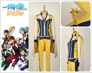 Ensemble Stars Shinobu Sengoku Yellow Uniform CD 3RD Cosplay Costume Custom Made for Boys Adult Men Outfit Carnival Halloween