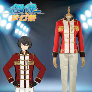 "Ensemble Stars Unit ""Knights"" Sakuma Ritsu Stage Cosplay Costume Custom Made for Boys Adult Men Outfit Carnival Halloween"