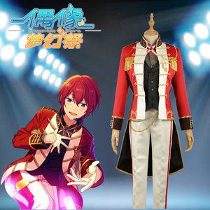 "Ensemble Stars Unit ""Knights"" Suou Tsukasa Stage Cosplay Costume Custom Made for Boys Adult Men Outfit Carnival Halloween"