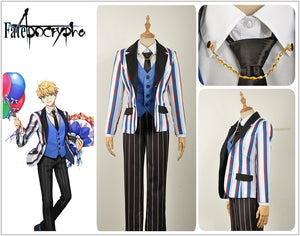 FATE/Apocrypha Fate Grand Order Henry Jekyll Cosplay Costume Custom Men Plaid Suit Pants Uniform Long Sleeve Clothing Vest Tie