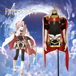 FATE/Apocrypha Rider Girls Dress Astolfo Cosplay Costume Custom Long Sleeve Black Dress with Cloak Tight Skirt Clothing