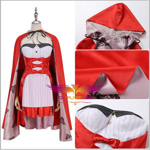 FGO Fate/Grand Order Marie Antoinette 4th Anniversary Cosplay Costume Red Cloak Sexy Dress Custom Made Halloween Carnival
