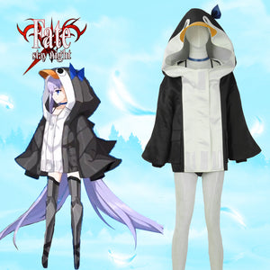 FGO Meltryllis Mysterious Alterego Penguin Cosplay Costume Sexy Bikini Swimwear Cute Hoodies Jacket Custom Made Carnival