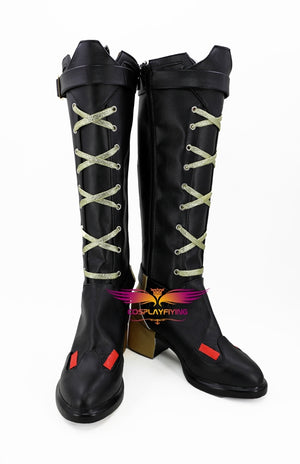 FPS Game OW Overwatch Ashe Cosplay Shoes Boots Custom Made for Adult Men and Women Halloween Carnival