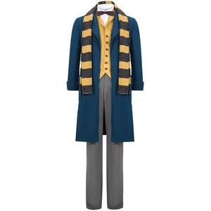 Fantastic Beasts and Where to Find Them Newt Scamander Cosplay Costume With Scarf Harry Potter