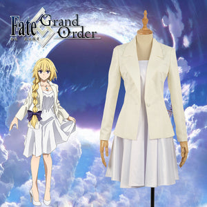 Fate/Apocrypha -Epilogue Event FGO Cosplay Joan Of Arc White Cosplay Costume