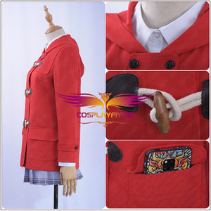 Fate/Grand Order FGO Cosplay Ereshkigal Cosplay Costume Custom Red Hoodies Academy Uniform Dress Woman Girl Clothing Hairpin