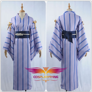 Fate/Grand Order Game FGO×Google Play Merlin Bathrobe Japanese Kimono Cosplay Costume