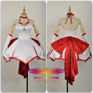 Fate/Stay Night Fate/Zero Fate/Grand Order Nero Saber Lily Red Lily FGO Cosplay Costume Girls Dress Satin Sexy Skirt Outfit