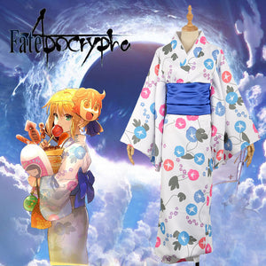 Fate/Stay Night Fate/Zero Fate/Grand Order Saber Kimono Yutaka Adult Female Cosplay Costume