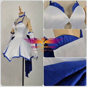 Fate/Zero Fate/Stay Night Nero Saber Lily Blue Lily Type-moon 10th Anniversary Cosplay Costume