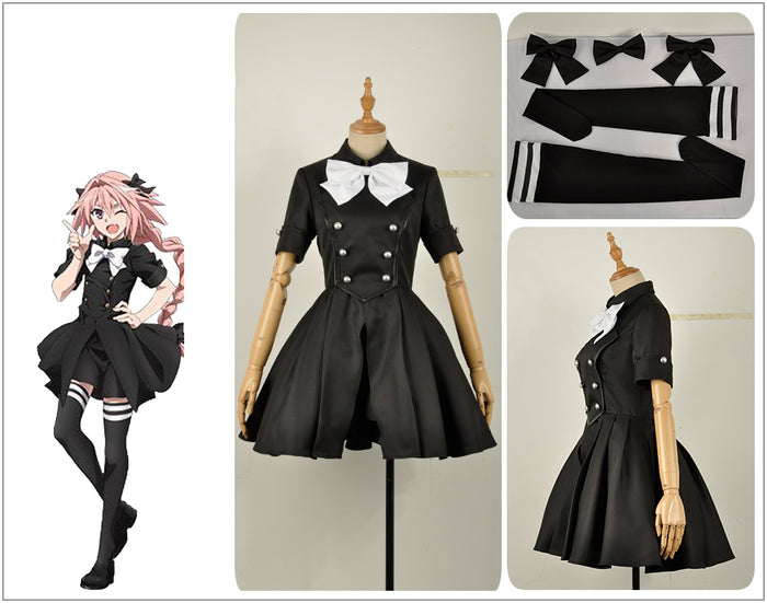 Fate Epilogue Event FGO Astolfo Girls Dress Mordred Cosplay Costume for Halloween Carnival