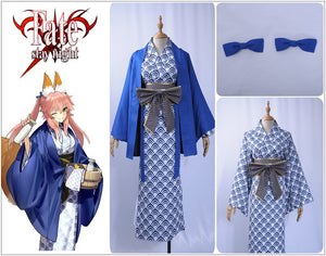 Fate Grand Order Cosplay Costume Tamamo no Mae Cosplay Costume