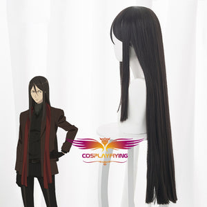 Fate Lord El-Melloi II Case Files Lord El-Melloi II Dark Brown Long Straight Cosplay Wig Cosplay for Adult Women Halloween Carnival