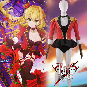 Fate Stay Night Grand Order FGO Cosplay Nero Saber Battle Stage Girls Cosplay Costume