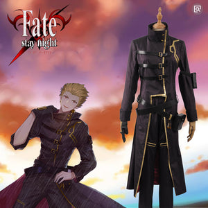 Fate Stay Night Grand Order FGO Gilgamesh Battle Stage Boys Cosplay Costume