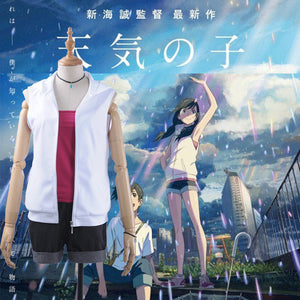 Film Anime Tenkinoko Weathering with you Amano Hina Cosplay Costume Full Set Outfit