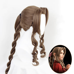 Final Fantasy VII Remake Aerith Gainsborough Cosplay Wig Cosplay for Halloween Carnival