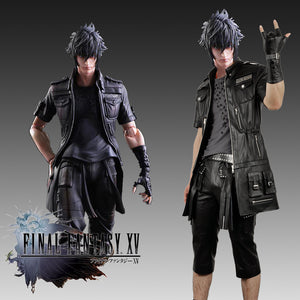 Final Fantasy XV FFXV FF15 Noctis Lucis Caelum Faux Leather Jacket Skullcandy Shirt Pants Cosplay Costume with Glove