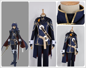 Fire Emblem Awakening Lucina Battleframe Adult Outfit Cosplay Costume Uniform Cloak with Badge