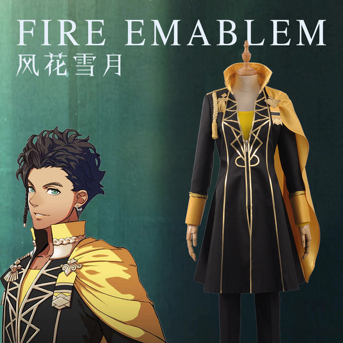 Fire Emblem: Three Houses Claude von Regan Fancy Battle Stage Girls Boys Cosplay Costume Adult Outfit