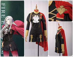 Fire Emblem: Three Houses Edelgard Fancy Battle Stage Girls Boys Cosplay Costume Adult Outfit