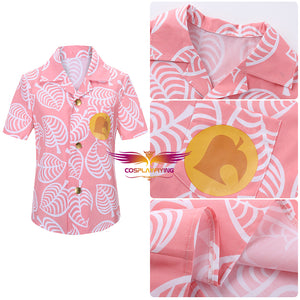 Game Animal Crossing: New Horizons Isabelle Pink T-shirt Adult Summer Shirt