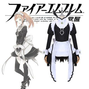 Game Fire Emblem Felicia Fancy Dress Maid Cosplay Costume for Carnival Halloween